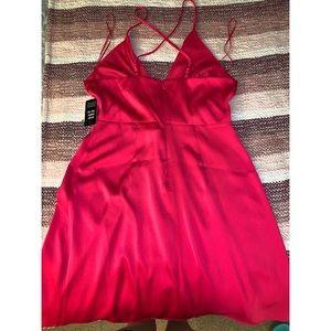 Express Dresses - Hot Pink Satin Dress - Express